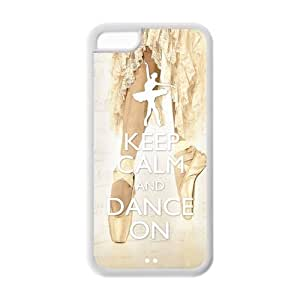 Diystore Keep Calm and Dance On IPHONE 5C Best Rubber Cover Case