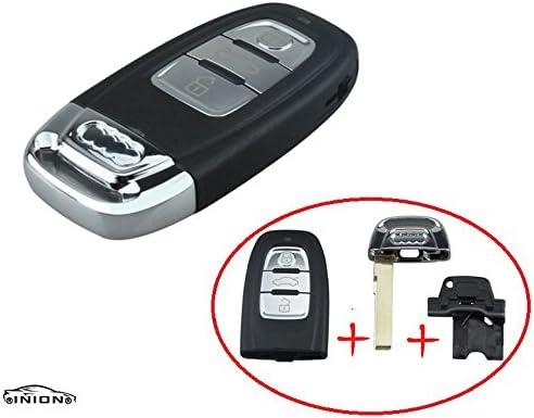 Inion Für Audi Ersatz Schlüsselgehäuse Mit 3 Tasten Inkl Notschlüssel Rohling Und Batteriefach Autoschlüssel Schlüssel Fernbedienung