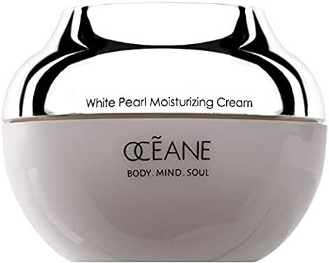 Oceane Beauty White Pearl Moisturizing Cream 100% White Pearl Infused with Pearl Powder for Women and Men 1.7oz.