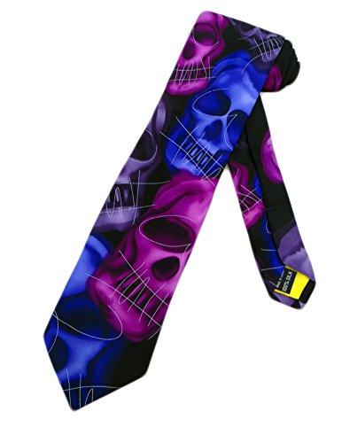 (Jerry Garcia Mens Skull Necktie - Purple - One Size Neck Tie)