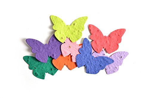 Plantable Seed Paper - Bloomin Seed Paper Shapes Packs - Butterfly Shapes - 100 Shapes Per Pack - 2.3x1.8