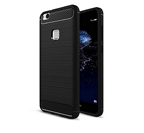 Price comparison product image Huawei P10 Lite Case Pacyer Protection Carbon Fiber Anti-Scratch Shockproof TPU Bumper (P10 Lite,  Black)