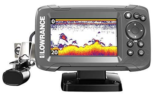 Lowrance HOOK2 4X - 4-inch Fish Finder with Chirp Sonar and Bullet Skimmer Transducer ()