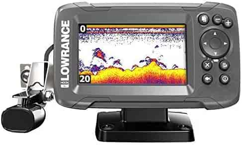 Lowrance HOOK2 4X - 4-inch Fish Finder with Chirp Sonar and Bullet Skimmer Transducer