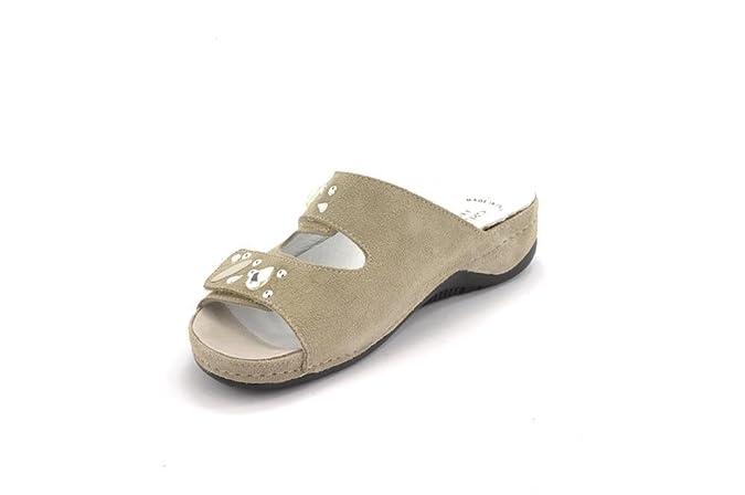Camoscio Due Donna Pietre Amazon Velcro Ciabatta Grunland 0538 Cala yqRI00