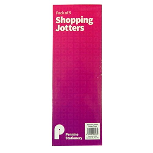Slim Shopping or To Do List Notepads, Jotters - Pack of 5 - Size 8.3 x (Long Notepad)
