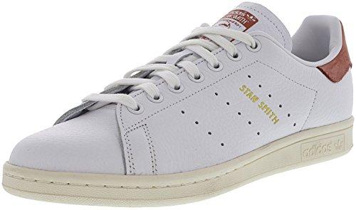 Adidas Mænds Originaler Stan Smith Sneaker Hvid / Hvid / Rå Lyserød T07B4H