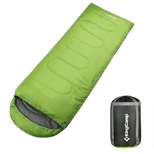 Kingcamp Oasis 300 23-68 Degree Loft Envelope Sleeping Bag, Green