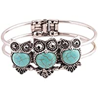 Gillberry Bohemian Style Retro Cute Owl Plating Lady Bracelet With Turquoise