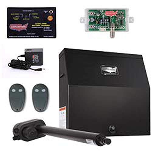 USAutomatic Patriot I AC Charged Single Swing Gate Opener Kit 020015-UL Includes Receiver and Two Remotes & Includes A Free Heavy Duty FAS Tape Measure (Part# FAS-TMPROMO18)