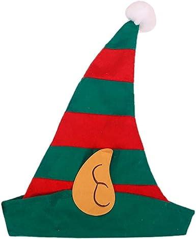 Unisex Adult Kids Christmas Elf Hat Cloth Cap Christmas Holiday Costume