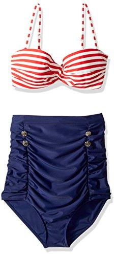 COCOSHIP Waisted Bikini Vintage Swimsuit