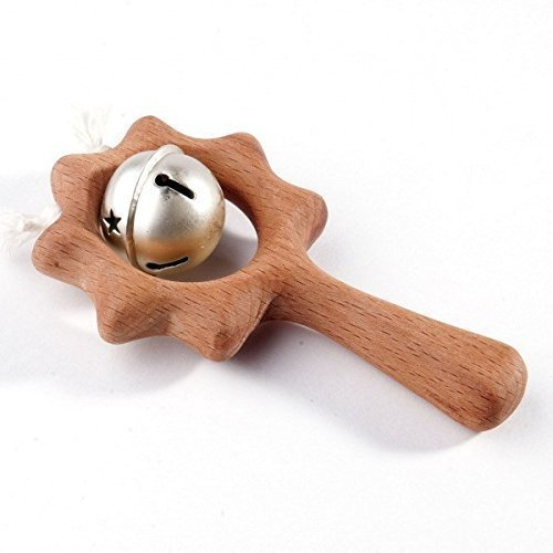 Sunny toy. Wooden teether. Teething toy. Wooden Rattle.