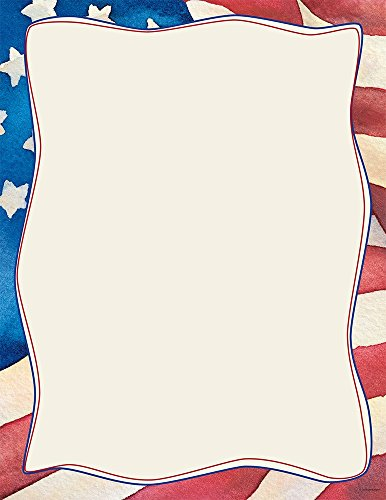 "Great Papers! Patriotic Letterhead, 80 Count, 8.5""x11"" (2014235)"