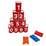 ibobby Bean Bag Can Toss Game, Red, 9 x 15 inches