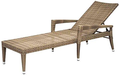 Siena Garden 274413 Stapelliege Braga Aluminium-Gestell Gardino®-Geflecht sand Aluminium-Fußkappen, Rücken mehrfach verstellbar