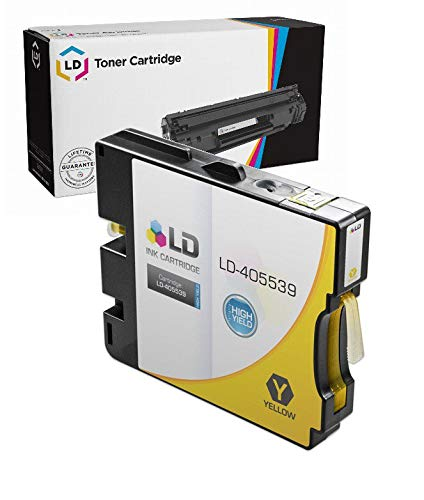 - LD Compatible Ink Cartridge Replacement for Ricoh 405539 GC 21YH High Yield (Yellow)