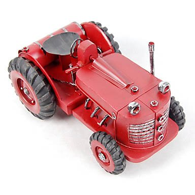 Metal Hand Made Agricultural Tractor Model (Red)