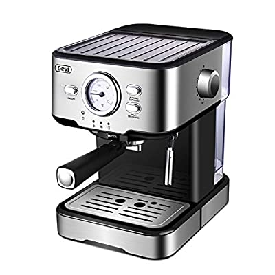 Espresso Cappuccino Machie & Coffee maker,15 Bar Pressure Professional Extraction in Espresso Brewing,1100W