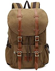 Canvas Laptop School Backpack Travel Bag Large Duffel Rucksack for Girl Men Women