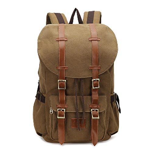 Agent Laptop Bag (Fresion Vintage Canvas Backpack Lightweight Outdoor Hiking Men's Hiking Hiking (Canvas Khaki))