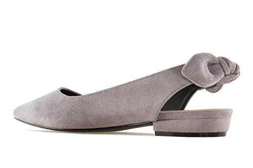 Damen Grey für Machado Gris Ante Ballerinas Andres qnTtxan