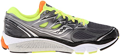 Saucony Hurricane 17 -  para hombre, grey/citron/orange, talla 42