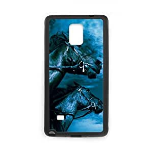 Horse Samsung Galaxy Note 4 Cell Phone Case Black MUS9214130