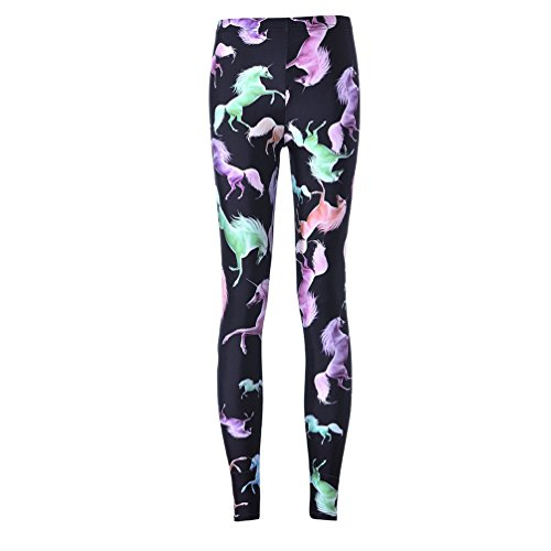 Womens Printed Leggings Footless Tights product image