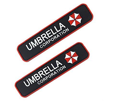 2PCS UMBRELLA CORPORATION Patch Tactical PVC Patches collection Combat Velcro armband Rubber Badge