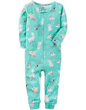 Baby Girls' 1-Piece Snug Fit Cotton Footless Pajamas