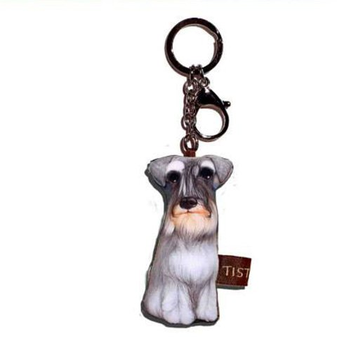 Sansukjai Key ring Key chain Schnauzer Fabric Dog lover High 10 cm
