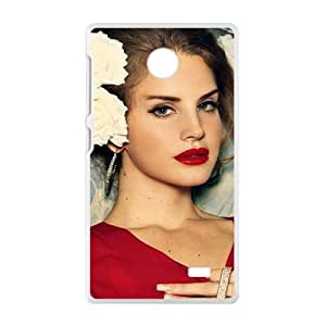 Fantastic red sexy woman Cell Phone Case for Nokia Lumia X