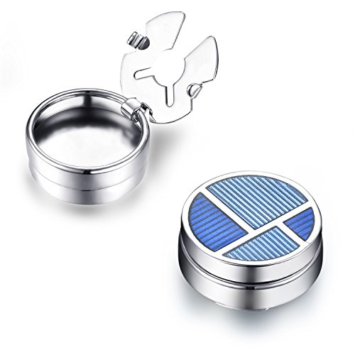 Classic Button Cufflinks - Blue Divide Button Covers - The Only Cufflinks for Shirts with Buttons (CS-12 US)