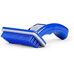 Do-Be Groom Ninja - Slicker Grooming Brush for Dogs and Cats, Spring-Loaded Self-Cleaning Feature, Remove Shedding Hair, Tangles and Matting, Flexible Coated Bristle Tips, Ergonomic Handle for Easy Br