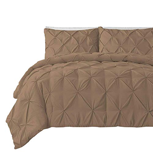 Cheap  Pinch Pleated Duvet Cover 3 Pieces 100% Egyptian Cotton 600 Thread Count..