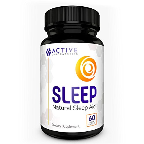 ACTIVE LABS SLEEP All-Natural Sleep Aid - Melatonin & Valerian Root - Time Released Non-Habit Sleep Supplement - Avoid Insomnia - 60 Veggie Caps