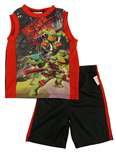 Little Boy's Teenage Mutant Ninja Turtles Tank Top & Shorts Set (7) (Tmnt Outfit)