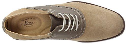 Gh Bass & Co. Mens Parker Oxford Shoe Taupe / Cioccolato
