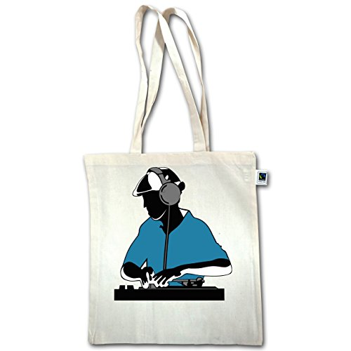DJ - Discjockey - Discjockey - Unisize - Natural - XT600 - Jutebeutel lange Henkel