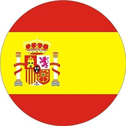 Pegatinas 25mm de diámetro España 5stk. en Juego: Amazon.es: Coche ...