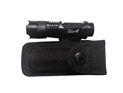 3 Model Mini CREE Q5 Led Flashlight Torch Zoom Light With Carry case(Falshlight&Case) by Mstar