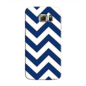 Cover It Up - Jagged Blue&White Galaxy S6 Edge PlusHard Case