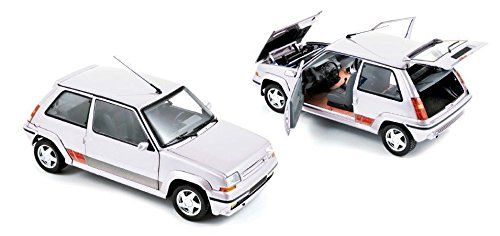 NEW 1:18 W/B NOREV COLLECTION - PANDA WHITE 1989 RENAULT SUPERCINQ GT TURBO PH II Diecast Model Car By Norev