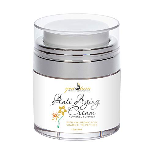 Anti Aging Face Cream & Wrinkle Cream - Perfect Facial Moisturizer For Day & Night Cream - Proprietary Formula with Hyaluronic Acid & Tri-Peptides To Support Skin Tightening, Brightning, Anti Wrinkl