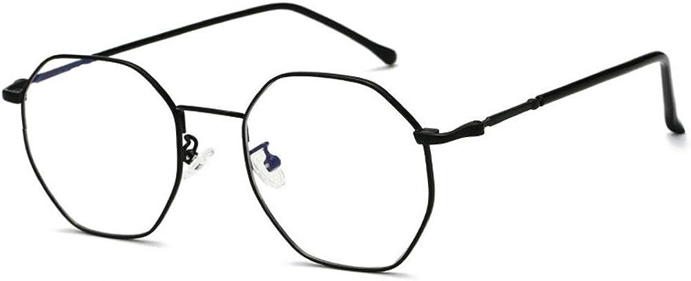 Ototon Lunettes Anti Lumiere Bleue Monture Rond en M/étal Lunettes de Bureau Anti Fatigue Pour Femme Homme PC TV Tablette
