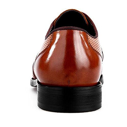 Casual da Scarpe da Tagliate Lavoro in Uomo Uomo Sposa Brown da Eleganti Traspiranti Scarpe Scarpe Pelle da HqwYI8Zg8
