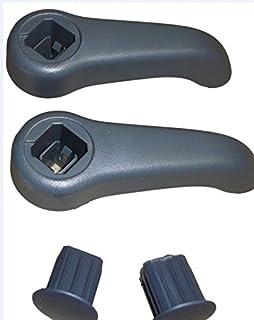 Par de palancas o asas de inclinación de asiento izquierdo y derecho, grises
