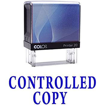 Amazon.com : CONTROLLED COPY Self Inking Rubber Stamp ... Controlled Copy Stamp