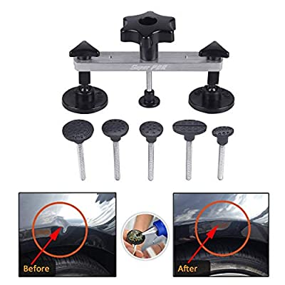 AUTOPDR Paintless Dent Repair Kits, Pops a Dent Puller Bridge Car Body Dent Removal Tools Remover for Auto Body Motorcycle Refrigerator Washing Machine: Automotive